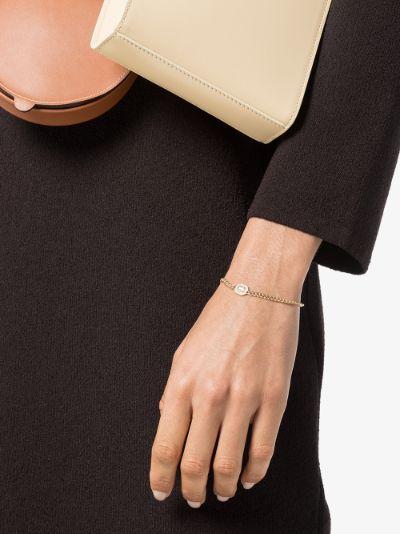 14K yellow gold emerald cut diamond bracelet