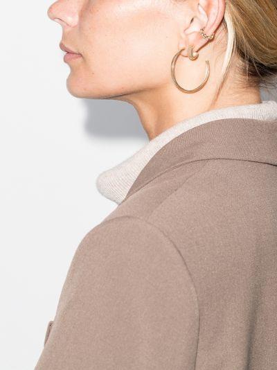 14K yellow gold large hoop earrings