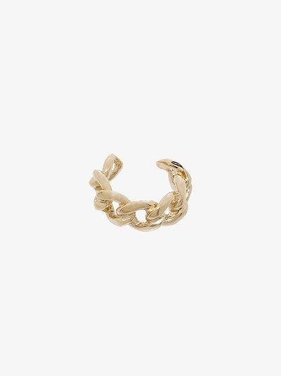 14K yellow gold medium curb chain ear cuff